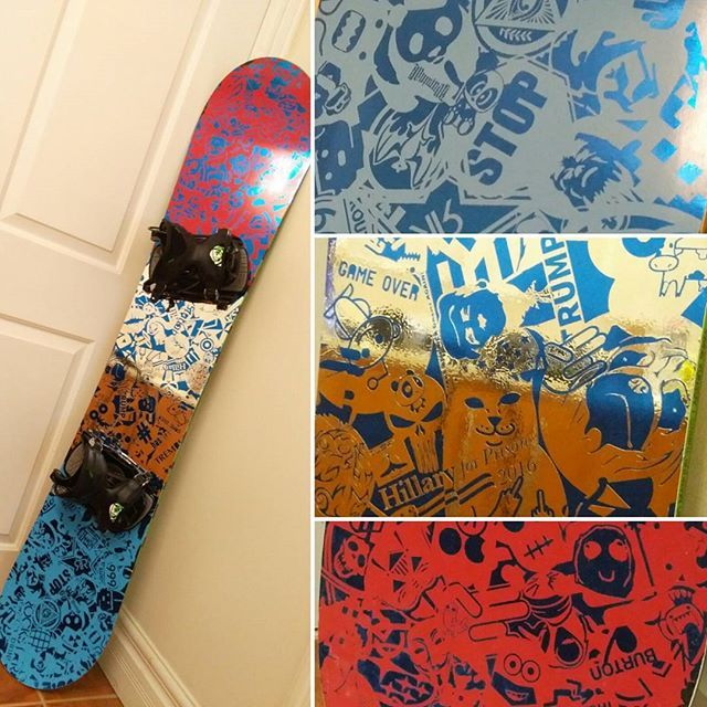 Blue Chrome Snowboard Wrap With Customs Decal Design Custom Stickers Snowboard Ride Ridesnowboards Burton Itsawrap Wrapped Wrap Snowboarding Decal