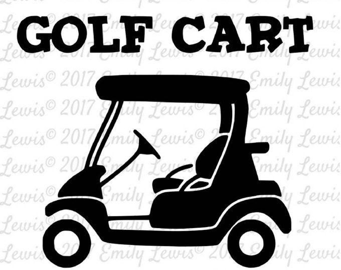 Golf Cart Svg Golf Cart Clipart Golf Cart Svgs Cut Files