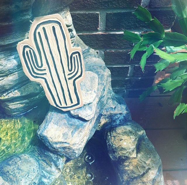 I carved a cactus today in my artist linoleumit will be perfect