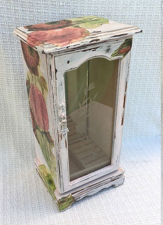 Tall Jewelry Box Necklace Holder Pink Jewelry Box Shabby