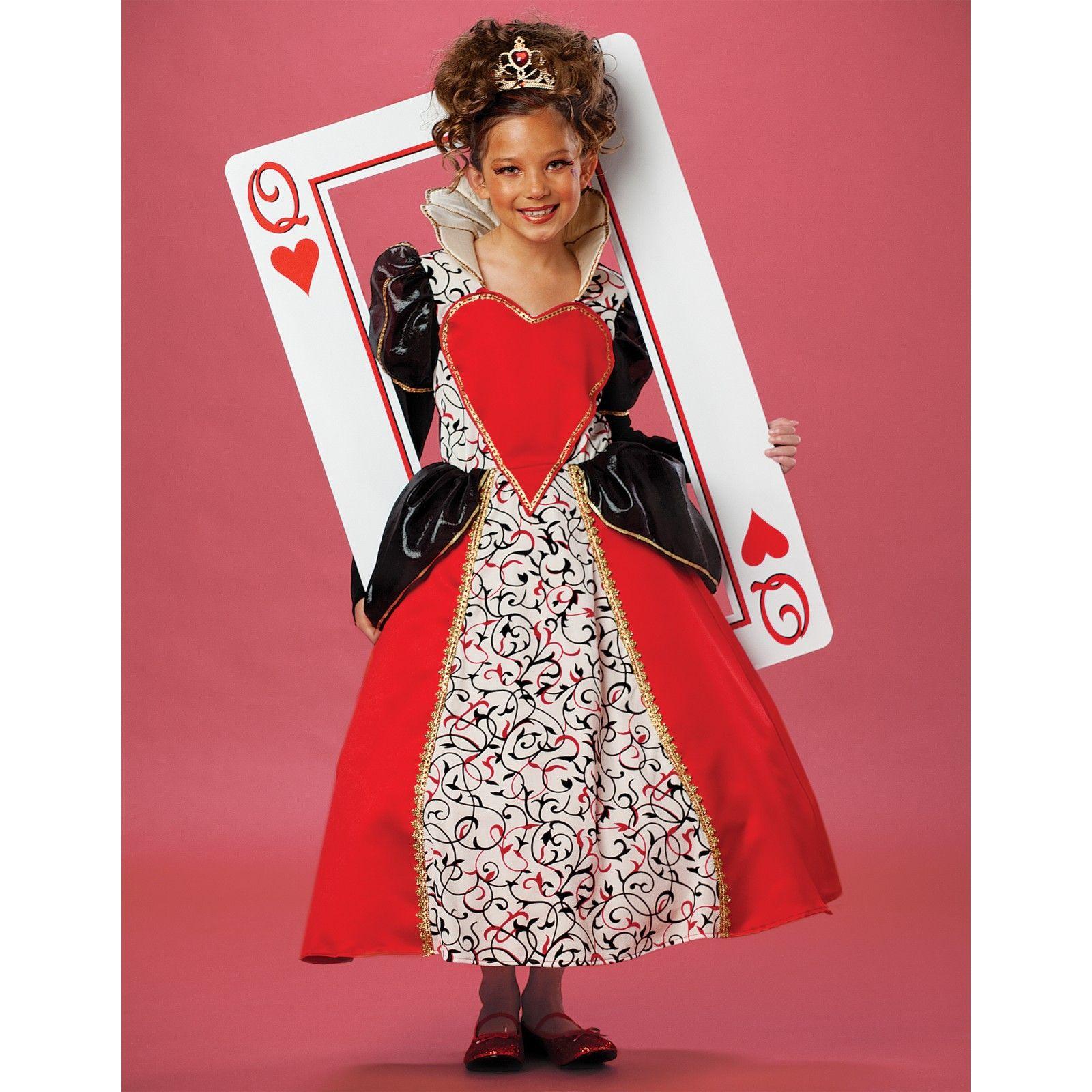 Buy Queen of Hearts Costume for Kids - Girls Halloween Costume ...