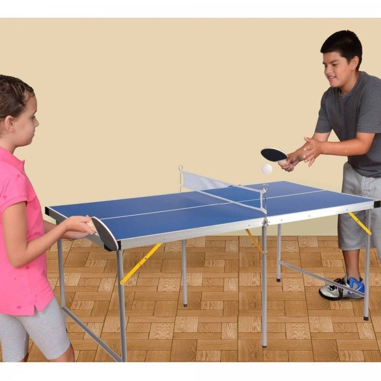 Youth Sized 5ft Table Tennis Ping Pong Table Folding Portable Kids Playroom  Size #LionSports