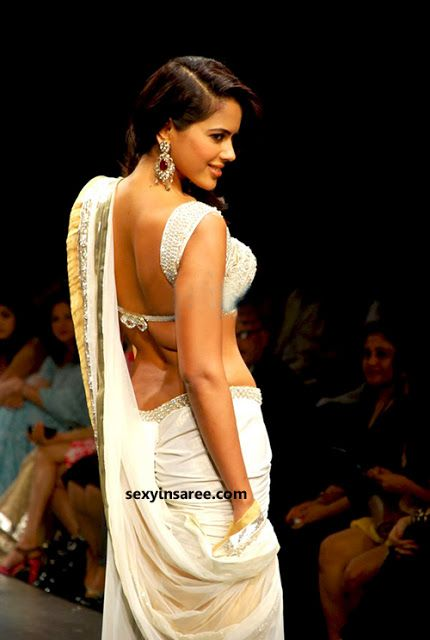 faaf082aea Sexy Backless Saree Bra Sameera Redy