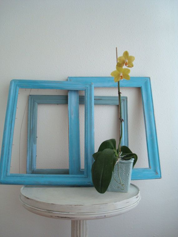 Chic Trash Painted Set of 3 Wooden Upcycled Frames  by ChicTrash, $23.00