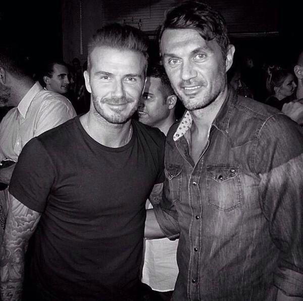 Paolo and David Beckham