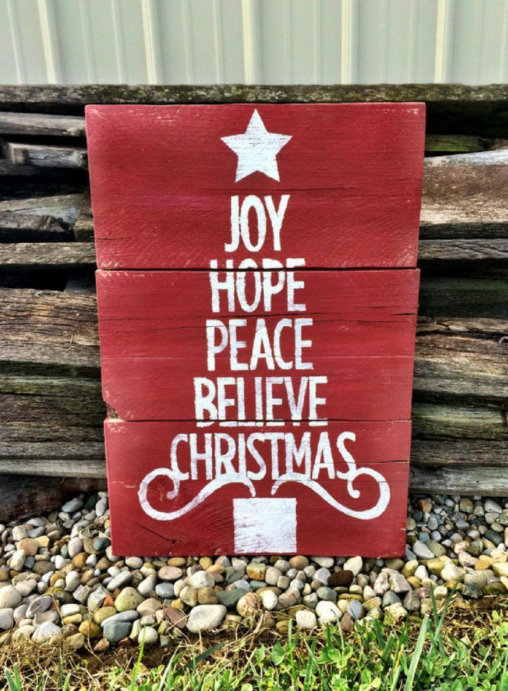 Believe Signs Decor Joy Hope Peace Believe Christmas Sign Christmas Decor Christmas