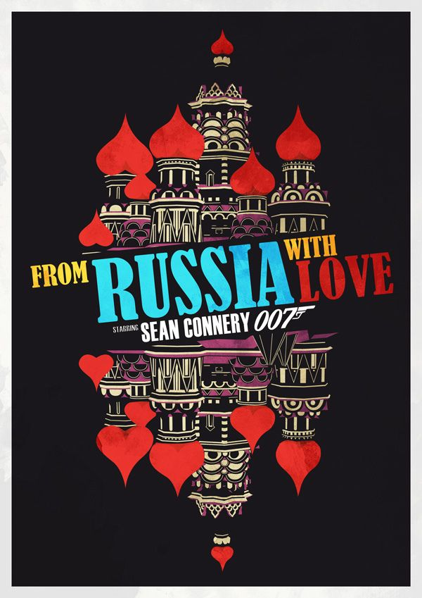 From Russia With Love 1963 Alternative Movie Poster By Chris
