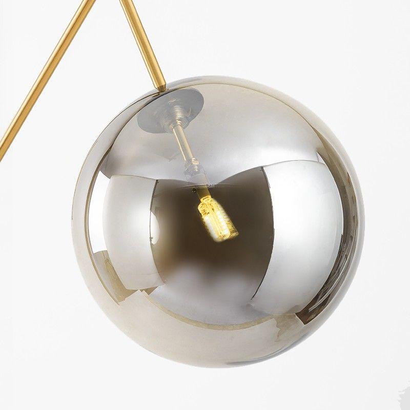 Modern Golden Color Glass Lampshade Floor Lamp With Led G9 Lamp Simig In 2020 Floor Lamp Lamp Glass Ball