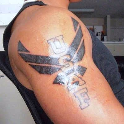 air force tattoo usaf tattoos pinterest air force tattoo air force and tattoo. Black Bedroom Furniture Sets. Home Design Ideas