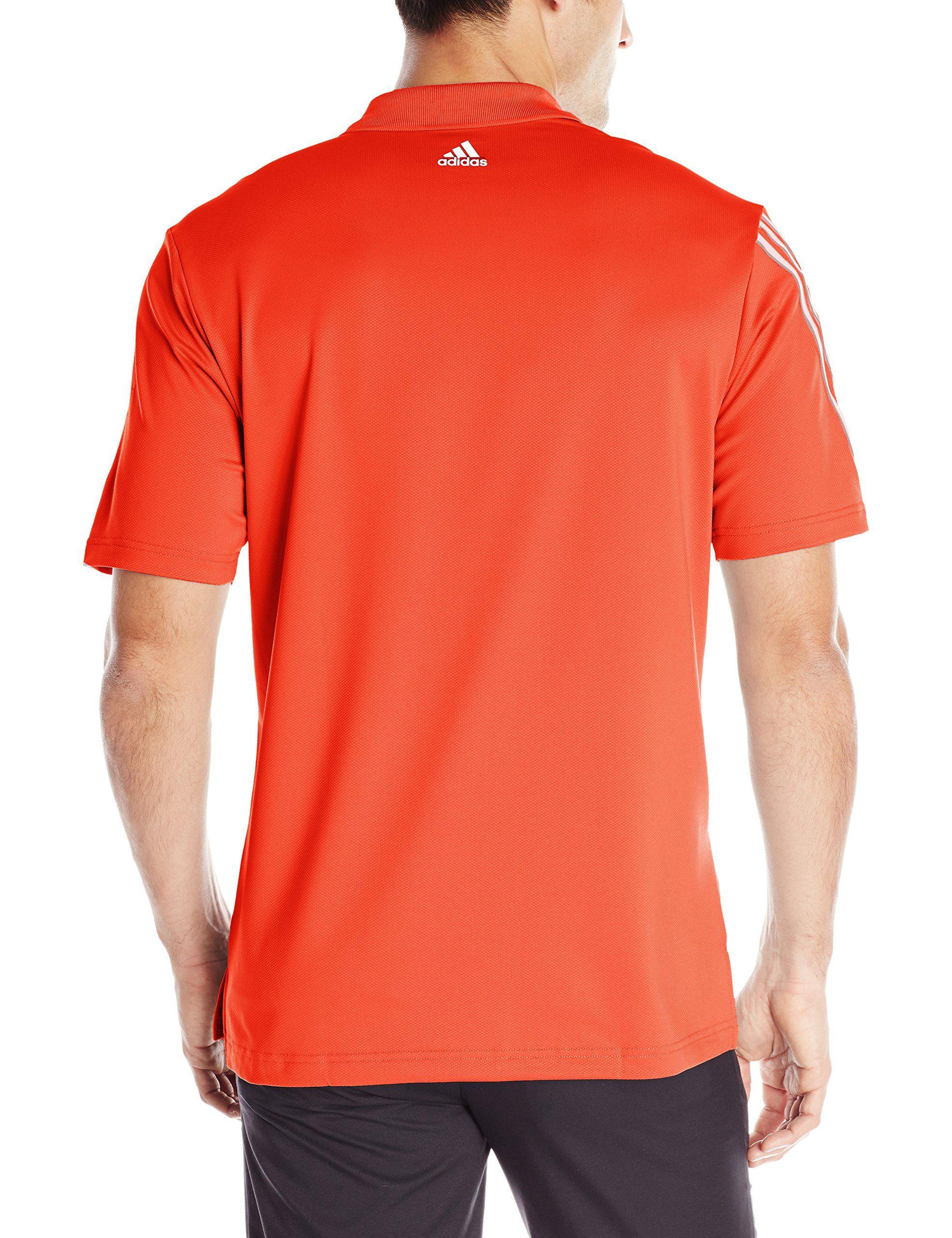 5fc3bbe2556 adidas Golf Mens Climacool 3 Stripes Polo HiRes Red Mid Grey Vista Grey  Medium