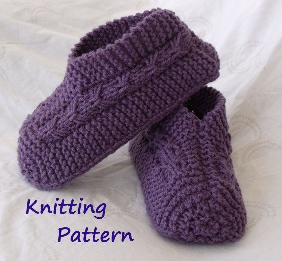 Knitted Slipper Pattern Knit Slippers Pinterest Patterns