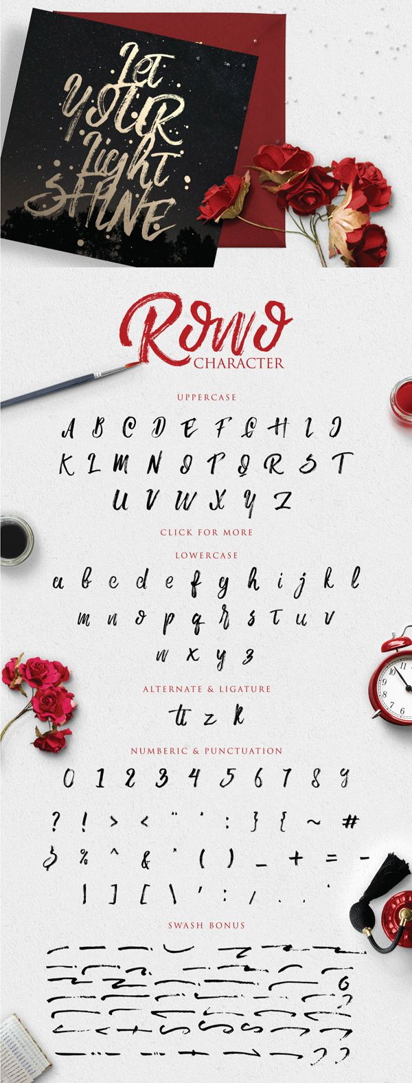 Rowo Font letters