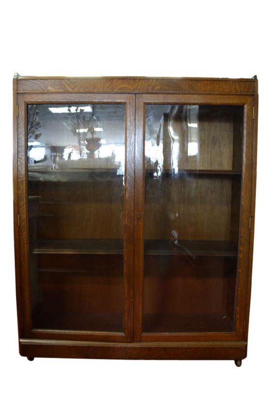 Best Antique Curio Cabinet China Cabinet Bookcase Solid Oak 400 x 300
