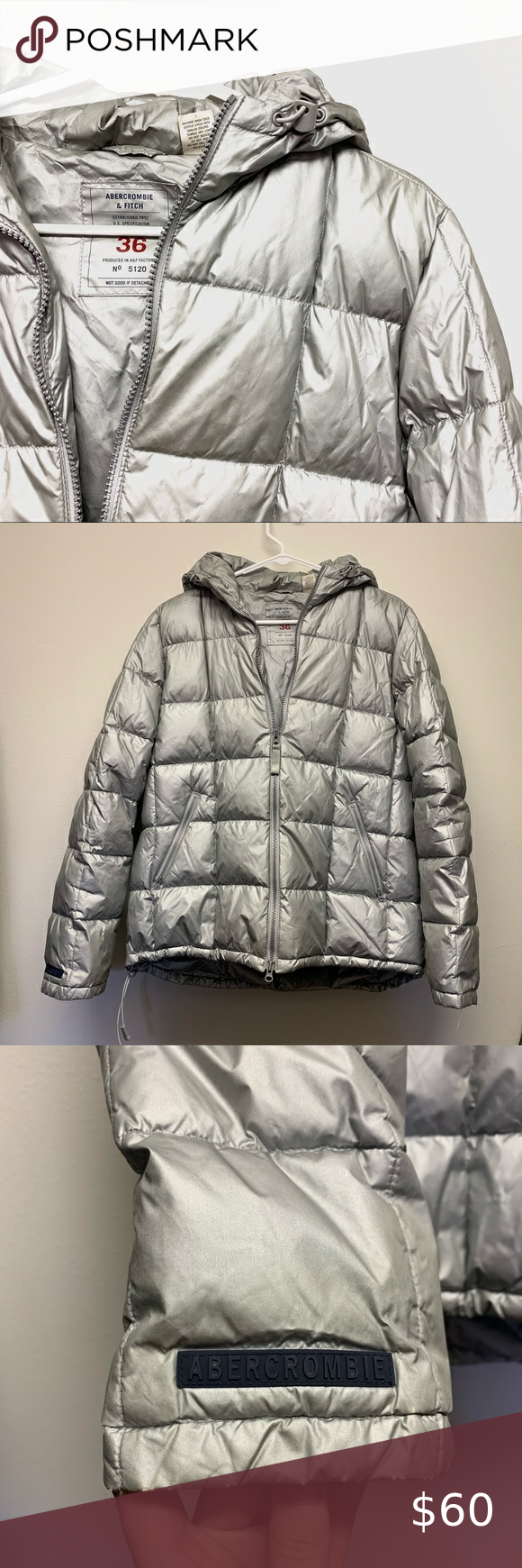 A F Metallic Silver Goose Down Puffer Jacket Silver Puffer Jacket Puffer Jackets Abercrombie And Fitch Jackets [ 1740 x 580 Pixel ]