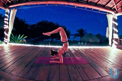 yoga poses around the world last night at present moment