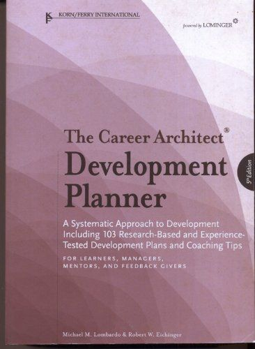 Career Architect Development Planner, 5th Edition by Mich... https://www.amazon.com/dp/193357822X/ref=cm_sw_r_pi_dp_x_tEolybJTGVMVV