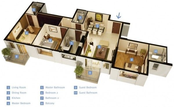 3 Bedroom Apartment House Plans Studio Apartment Floor Plans