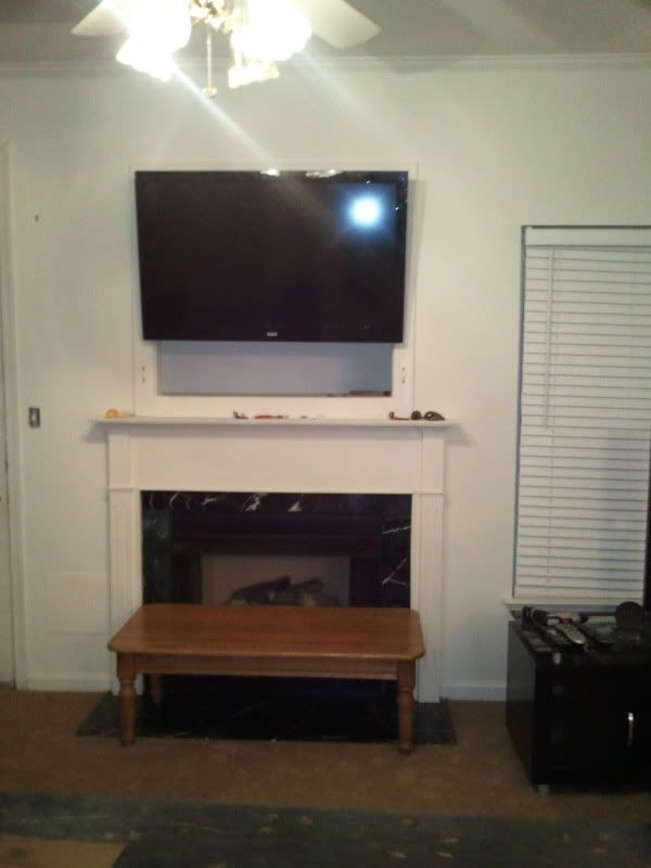 How To Mount A Flat Screen Tv In A Too Small Tv Niche Tv Nook