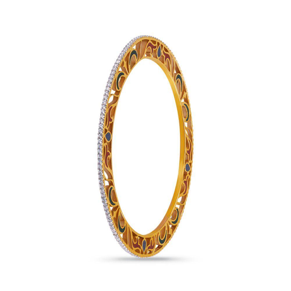 Buy Joyalukkas Pride Collection 18K Yellow Gold and Diamond Round