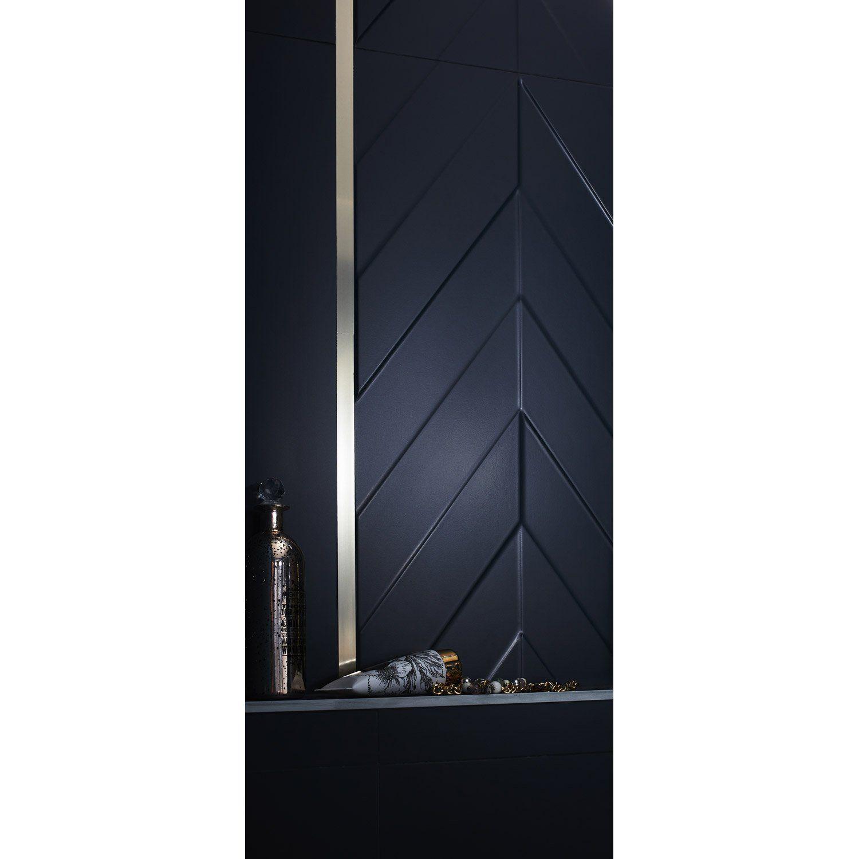 Faïence Mur Bleu Paon Mat L 40 X L 80 Cm Home Leroy