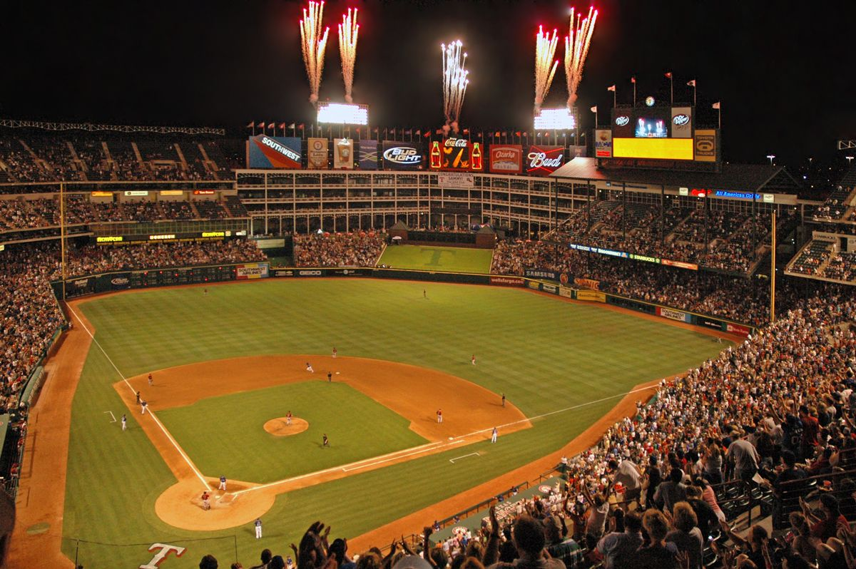 top ten favorite mlb stadiums | texas rangers ballpark, rangers