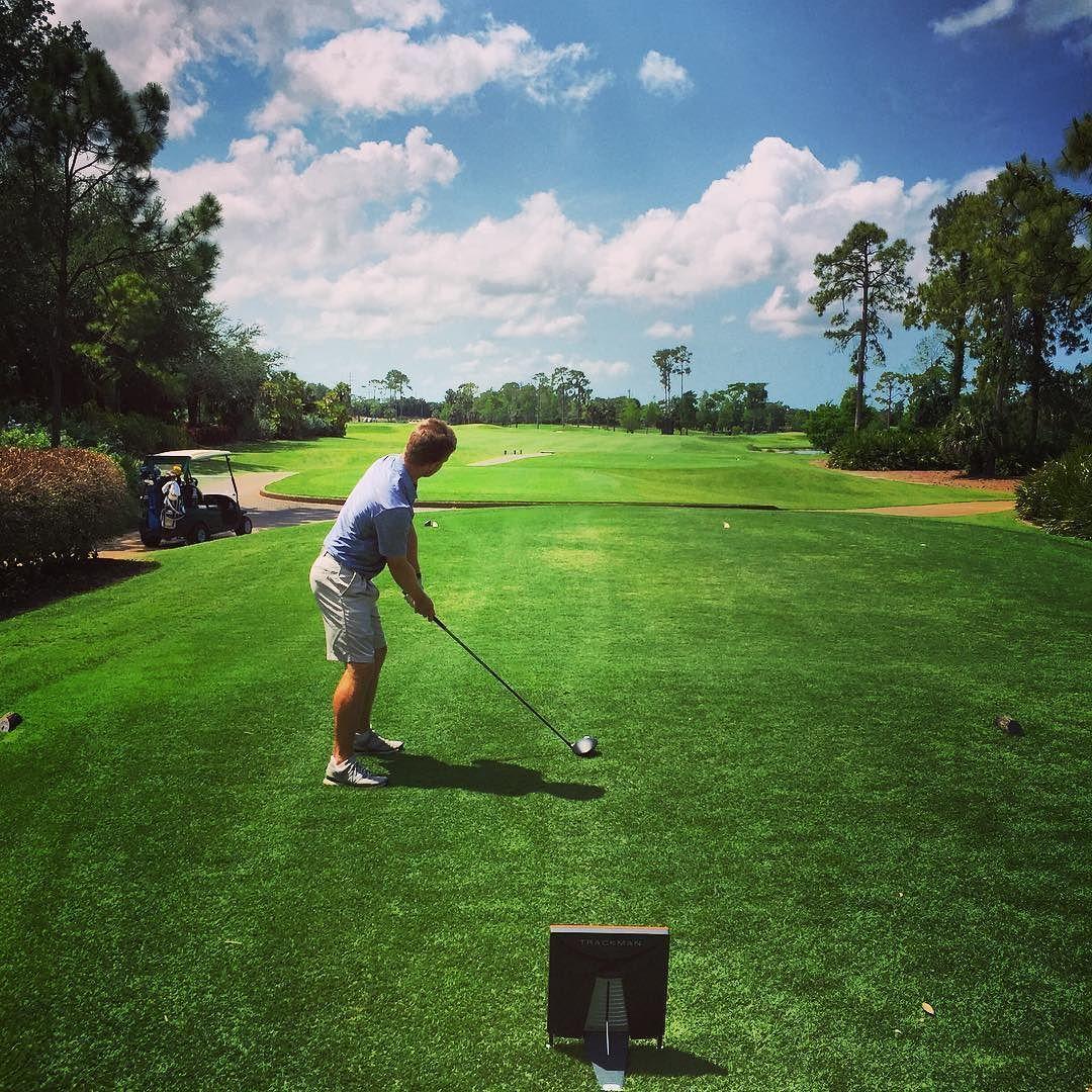 On Course Feedback With Trackman Pga Tour Latinoamerica Player Golf Trackman Durlandgolf Naplesgrande Naplesflorida