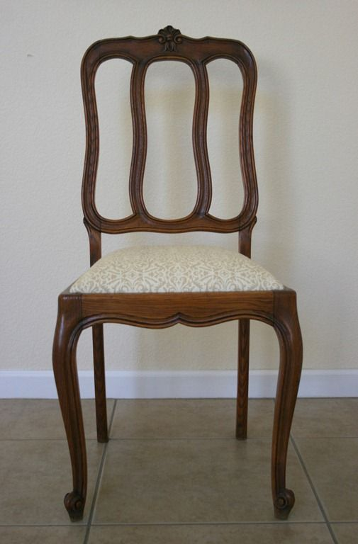 How To Recover A Chair Seat Using A Patterned Fabric ...