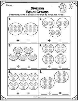 Division Equal Groups Division Worksheets Freebie In 2021 Division Worksheets Division Activities Math Division Worksheets