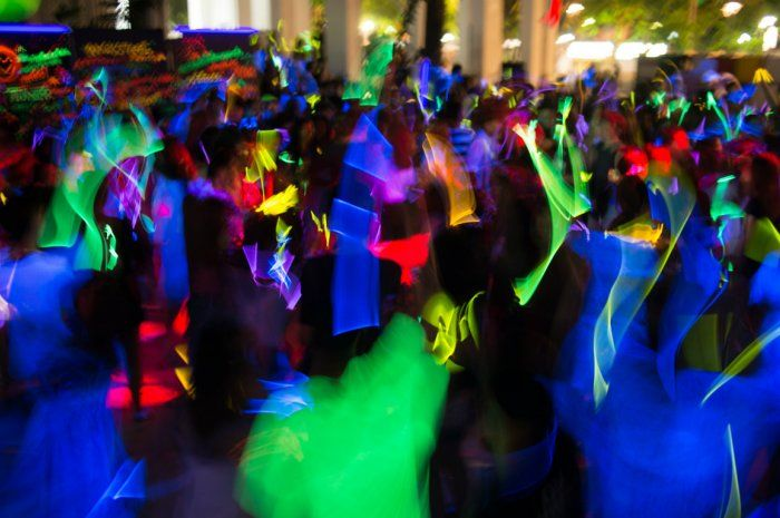 black light party from 10 cool themed parties for the new year