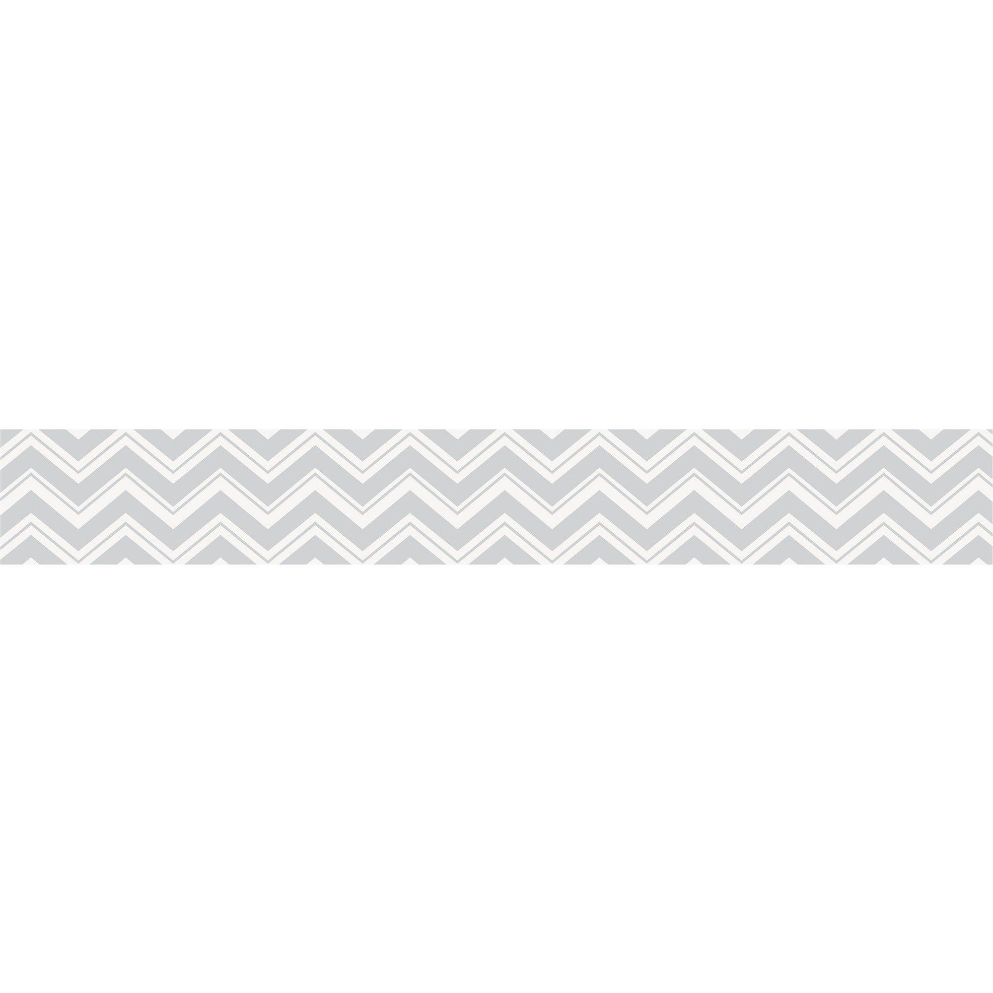 Sweet Jojo Designs Chevron Zig Zag Wall Paper Border Gray