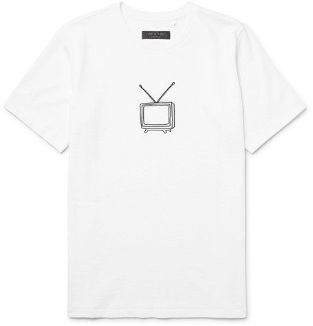 Mens Logo Cotton Jersey T-Shirt Rag & Bone Visa Payment Cheap Online Cheap Sale For Sale Original Online Discount Prices 2018 Newest Cheap Online C6yWNGj