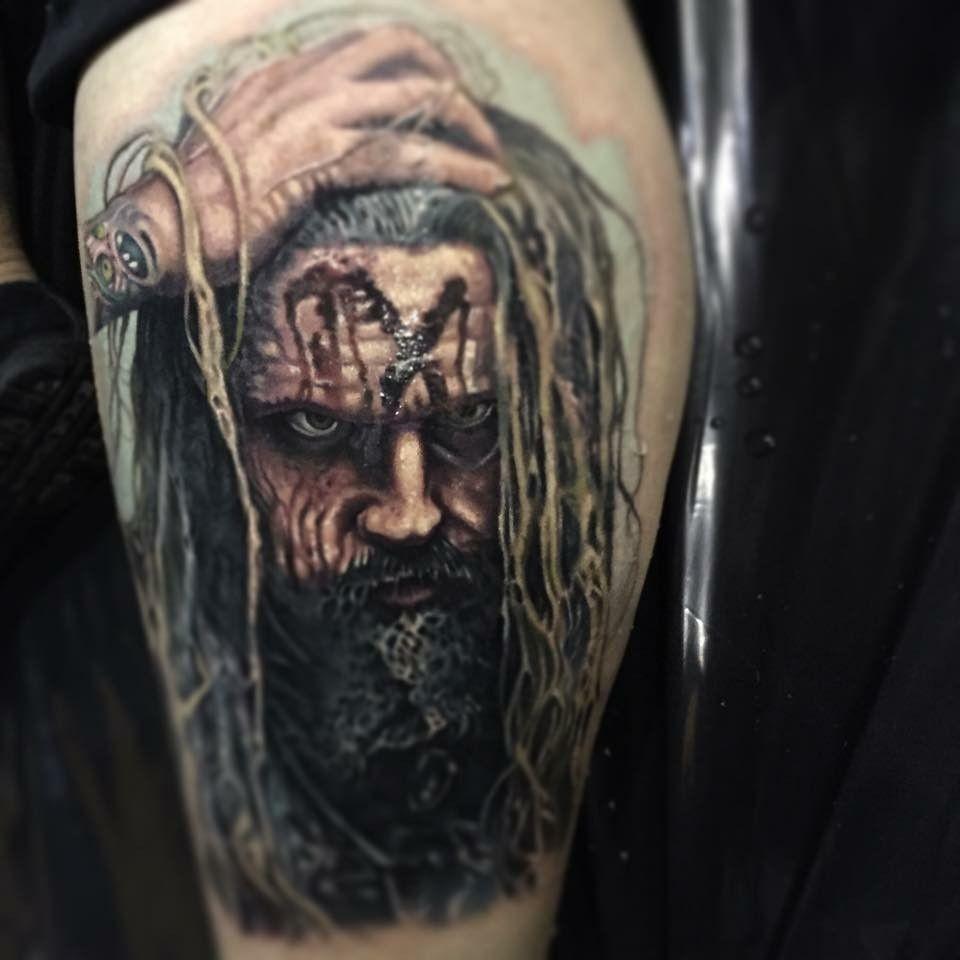 Rob Zombie Tattoo Zombie tattoos, Paul acker, Tattoos