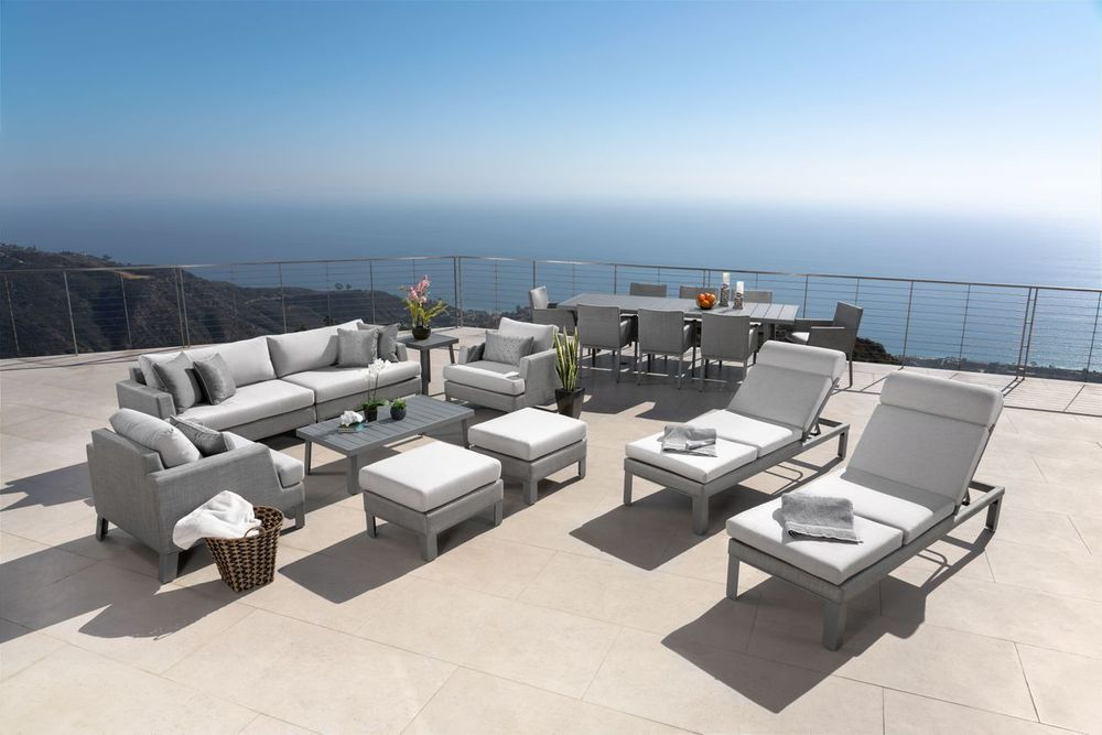 Modern Sling 19 Piece Estate Set Outdoor Furniture Sets