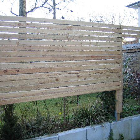 Holzzaun selber bauengünstig und solide Sichtschutz
