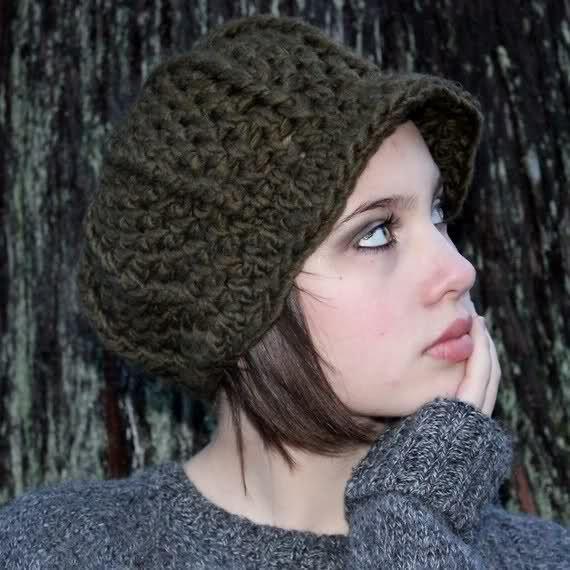 Como hacer gorras tejidas a gancho - Imagui