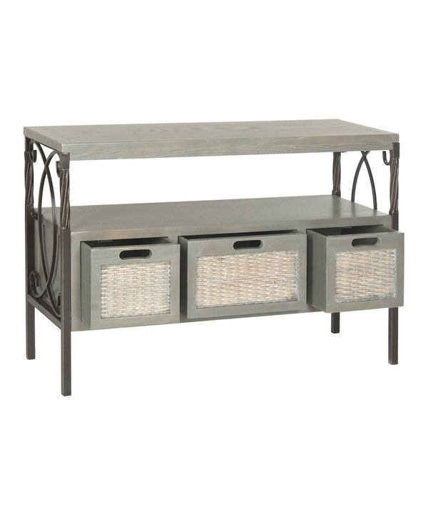 Look what I found on #zulily! Ash Gray Harry Console Table by Safavieh #zulilyfinds