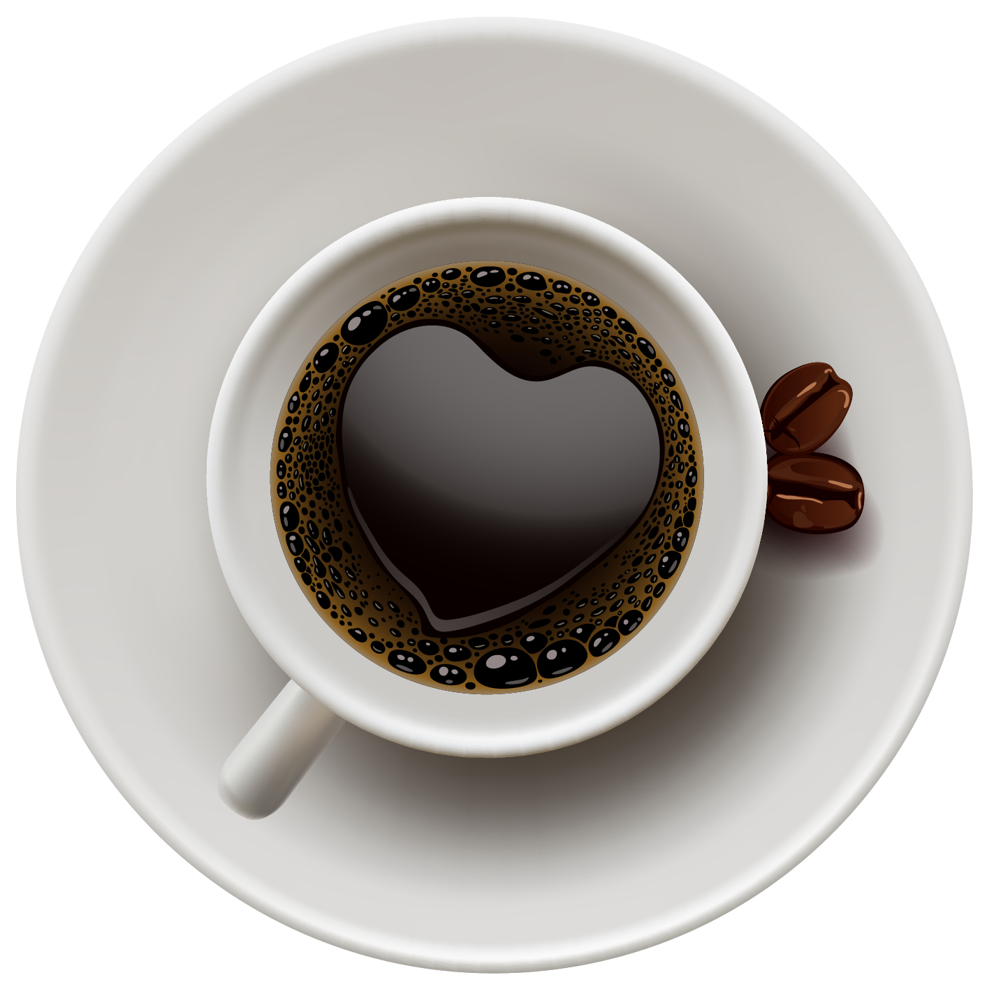 Coffee Cup with Heart PNG Vector Clipart Gallery