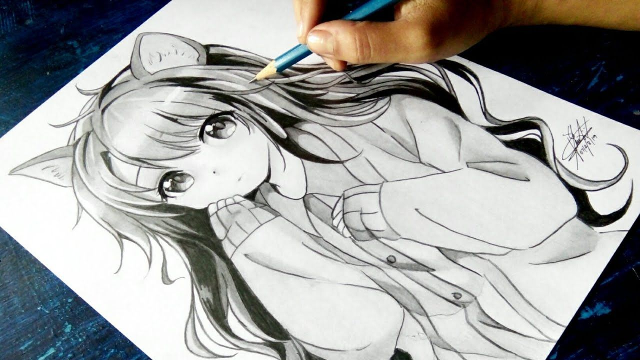 """How to draw Anime """"Neko"""" [Anime Drawing Tutorial for"""