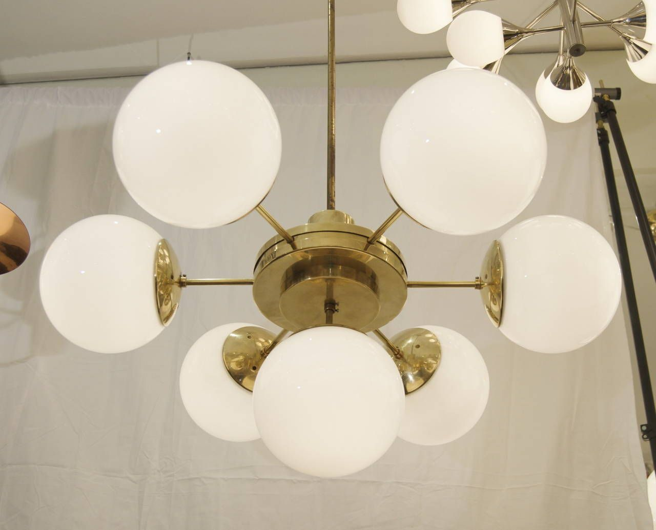 Spectacular And Massive Bauhaus Era Chandeliers From A Unique Collection Of Antique Modern Pendants At