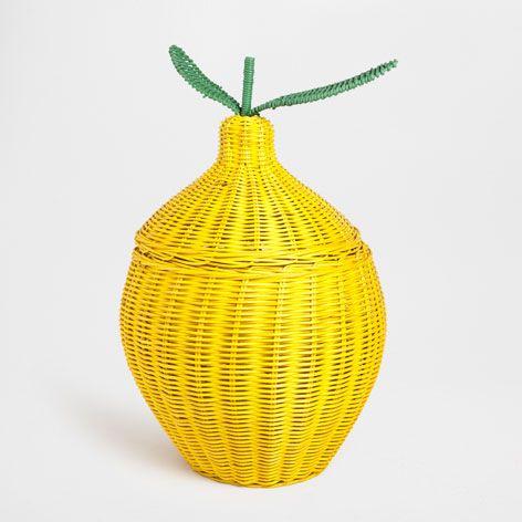 Lemon Shaped Basket Baskets Bathroom Zara Home