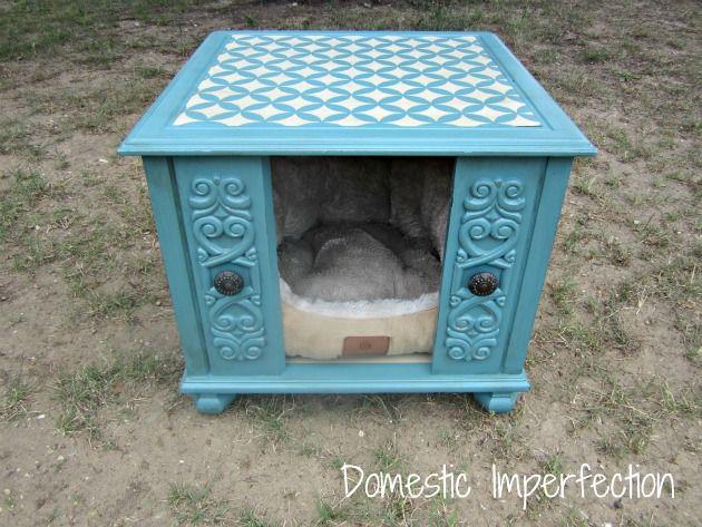 End Table Dog House Both Dog House Diy Diy Dog Bed Diy Dog