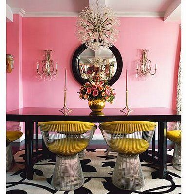 those chairs. that wall color. those light fixtures. | Retro rooms ...