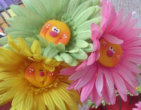 Polymer clay flowers---BY-CLAYKEEPSAKES