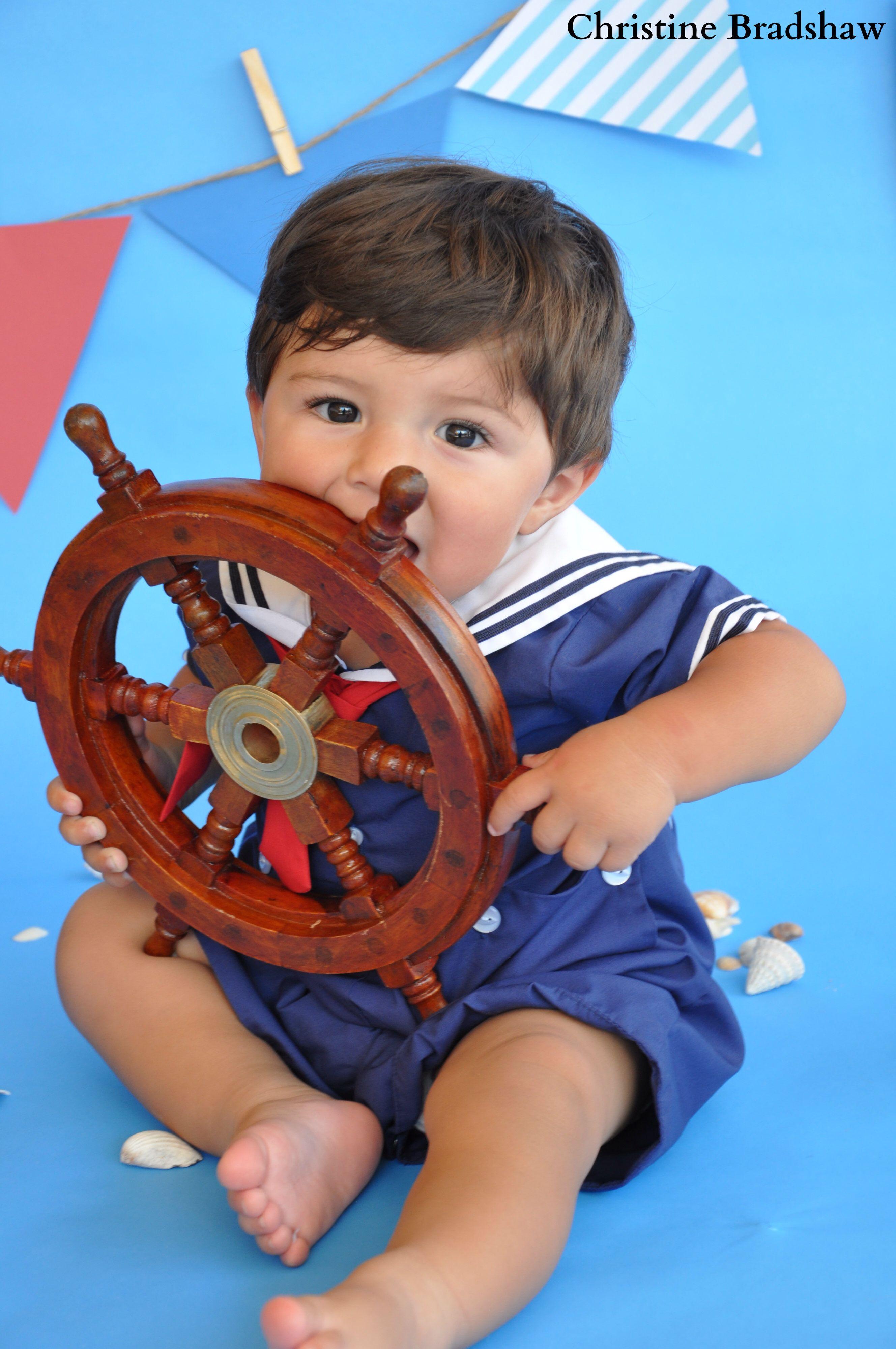 Sailor themed baby photoshoot | Baby photoshoot, Sailor ...