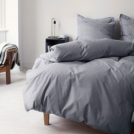 Bed Linen Set - Grey Cotton - Danish Design - by Georg Jensen ...