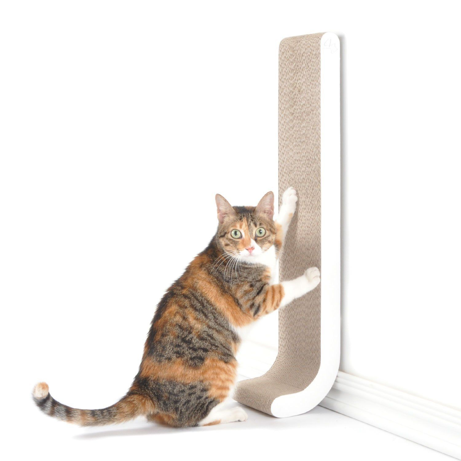 Amazon Com 4claws Wall Mounted Scratching Post 26 White Basics Collection Cat Scratcher Pet Best Cat Scratching Post Cat Scratching Post Cat Scratcher