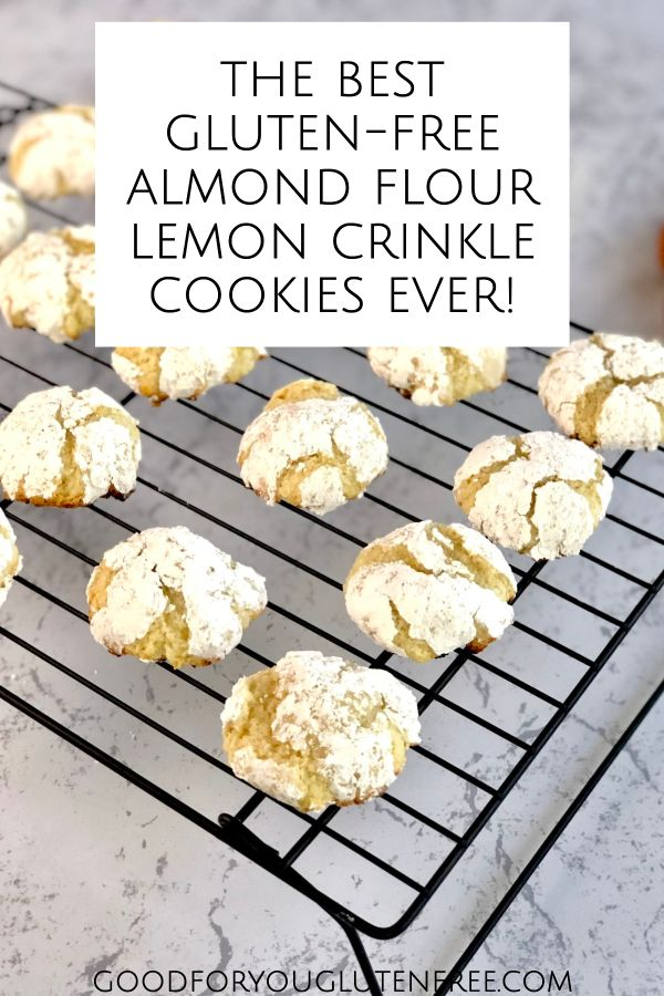 Moist and Tangy Lemon Crinkle Cookies Made with Almond Flour