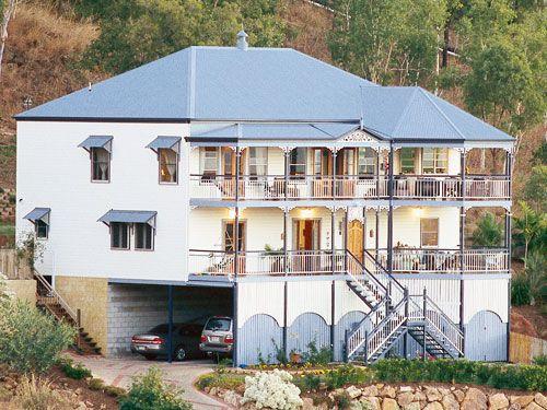 White And Blue Exteriors I Love House Design Design