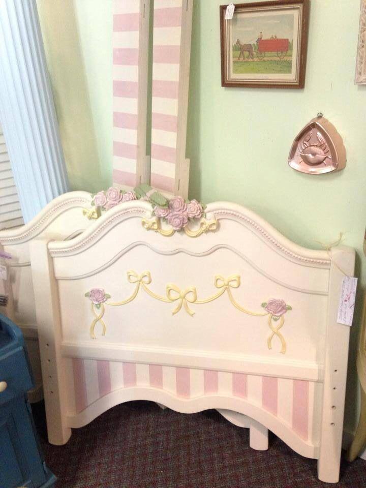 Chalk Painted Princess Bed Frame Set Painted Beds Bed Frame