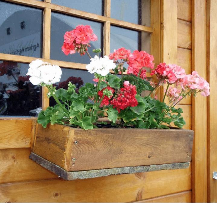 Simple Rustic Wooden Flower Box Wooden Flower Boxes Wood Flower Box Flower Boxes